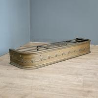 Victorian Brass Andirons & Fender (4 of 9)