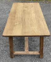 Large French Bleached Farmhouse Dining Table (6 of 26)