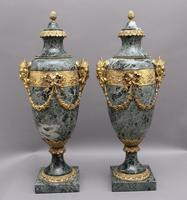 Pair of 19th Century French Marble & Cassoulet Urns (4 of 13)