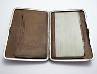 Quality Victorian 1894 Solid Sterling Silver & Leather Aide Memoire Card Note Stamp Case Purse Wallet. English Hallmarked (2 of 12)