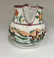 Antique Staffordshire Pottery Jug Country Sporting Pursuits c.1850 (3 of 9)