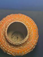 Antique 19th Century Asian Chinese Cinnabar Vase Urn (7 of 12)