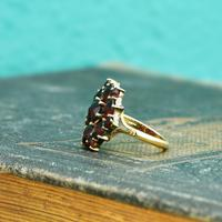 The Vintage Stepped Garnet Cluster Ring (4 of 5)