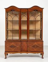 Quality Sheraton Revival Mahogany Display Cabinet (3 of 9)