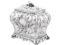 Sterling Silver Tea Caddy - Antique George III 1762 (4 of 12)