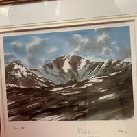 "HRH Prince Charles signed Limited Edition Artists Proof Print titled ""Lochnagar"" with fitted case and certificate of Authenticity (10 of 14)"