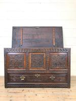 18th Century Carved Oak Mule Chest (4 of 13)