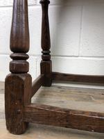 Antique Oak Joint Stool (3 of 11)