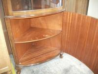 Glazed Burr Walnut Corner Cabinet (7 of 7)
