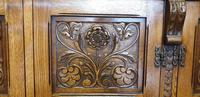 Superb Carved Oak Cupboard on Stand (15 of 34)