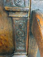 Rare English Charles II Oak Wainscot Armchair Likely to be from Battle Abbey c.1660-1685 (17 of 20)