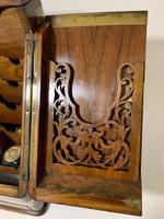 Victorian Burr Walnut Brass Bound Desktop Stationery Cabinet (8 of 15)