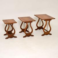 Antique Regency Style Figured Walnut Nest of Tables (12 of 12)