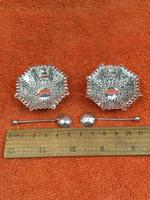 Antique Sterling Silver Pair of Salts & Matching Spoons 1899 William Devenport (11 of 12)