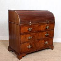 Cylinder Bureau Georgian Writing Desk Chest (7 of 12)