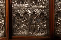 Fine and Very Decorative Russian Triptych Devotional Icon 19th Century (6 of 12)