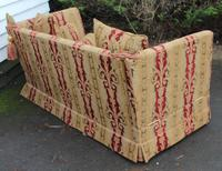 1900s Parker Knowle Drop End Sofa in Gold and Red. (2 of 3)