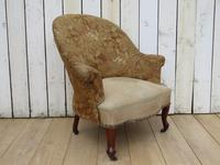 Antique French Tub Chair For Re-upholstery (8 of 8)