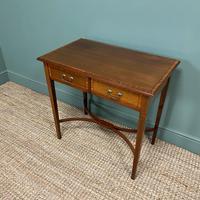 Elegant Edwardian Mahogany Antique Writing Table (7 of 7)