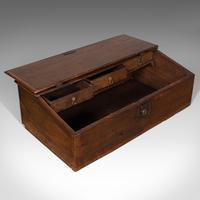 Antique Verger's Table Top Desk, English, Oak, Ecclesiastical, William III 1700 (9 of 12)