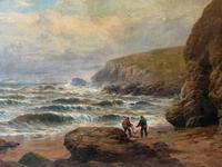 Gigantic George Henry Jenkins  19th Century Seascape Oil Painting (4 of 12)