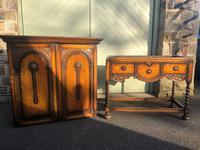 Antique Oak Barley Twist Cabinet on Stand (10 of 10)
