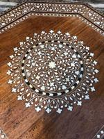 Antique Anglo Indian Hoshiarpur Folding Coffee Table (2 of 5)
