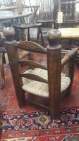 Primitive French Child's Elbow Chair, Sea Grass Seat. Some restoration (2 of 3)