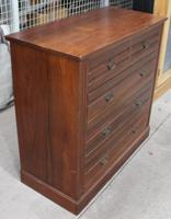 1920s Mahogany Chest of 2 over 3 Drawers with Tramlines (2 of 4)