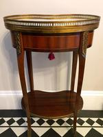 Antique French Kidney Shaped Side Table with Marble Top (6 of 10)