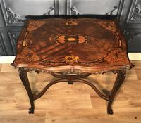 Quality Inlaid Walnut Occasional Table (6 of 18)