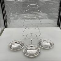 Edwardian Silver Plate Three Tier Cake Stand Fenton Brothers c.1900 (5 of 9)