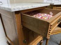Pair of French Marble Top Bedside Cupboards (6 of 13)
