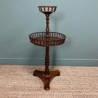 Victorian Rosewood Circular Antique Occasional Table (5 of 7)