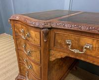 Burr Walnut Pedestal Desk by Maple and Co (6 of 18)