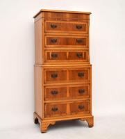 Antique Georgian Style Yew Wood Chest on Chest (2 of 13)