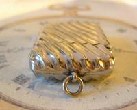 Antique Vesta Case 1890s Victorian The Beacon Chunky Silver Chrome Case (9 of 10)