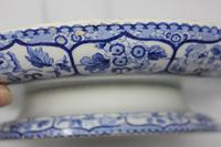 Antique Blue & White Pearlware Italian Scene Cheese Stand (8 of 12)