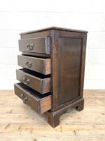 Early 20th Century Oak Four Drawer Chest (6 of 7)