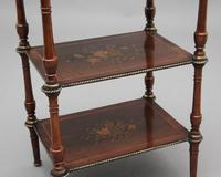 19th Century Mahogany & Inlaid Three Tier Etagere Table (4 of 11)