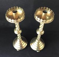 Pair of Gothic Revival Brass Altar Candlesticks (5 of 5)