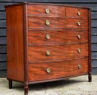 Superb Quality Regency Mahogany Bow Fronted Chest of Drawers (12 of 15)
