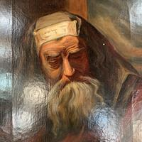 Antique oil painting portrait of a Jewish Rabbi (4 of 10)