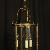 French Gilded Bronze Convex Antique Hall Lantern (8 of 10)