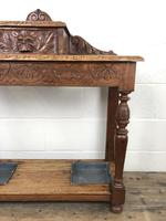 Antique Victorian Carved Oak Hall Stand (6 of 14)