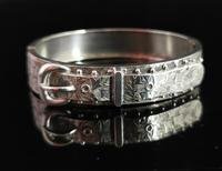 Antique Victorian Silver Buckle Bangle (3 of 11)