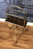 Victorian Brass & Oak Revolving Paper Rack by William Tonks (2 of 7)
