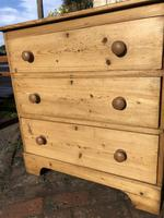Antique Vintage Pine Small Three Drawer Chest of Drawers (5 of 8)