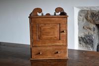 Small Rustic Antique Oak Wall Cupboard (3 of 10)