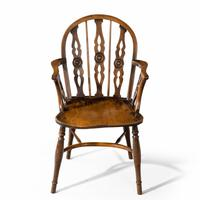 Attractive Matched Set of Six Early 19th Century  Thames Valley Yew Tree Chairs (4 of 5)